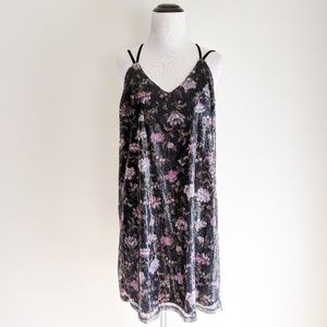 Xhilaration Strappy Floral Sequined Dress